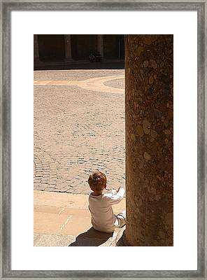 Not Lost Just Hiding Framed Print by Jez C Self