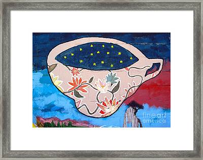 Framed Print featuring the photograph Not My Cup Of Tea by Ethna Gillespie
