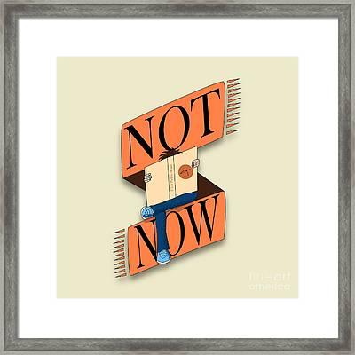 Not Now, I'm Reading Framed Print