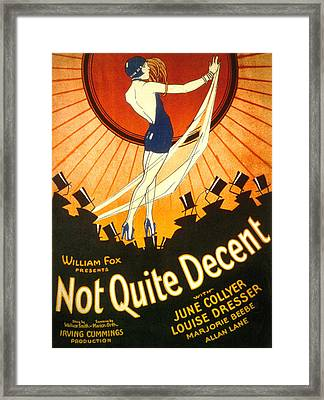 Not Quite Decent, June Collyer, 1929 Framed Print by Everett