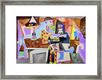 Not Sgt. Peppers Lonely Hearts Framed Print by Mindy Newman