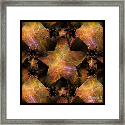 Not So Black Star / Tessellated Framed Print by Elizabeth McTaggart