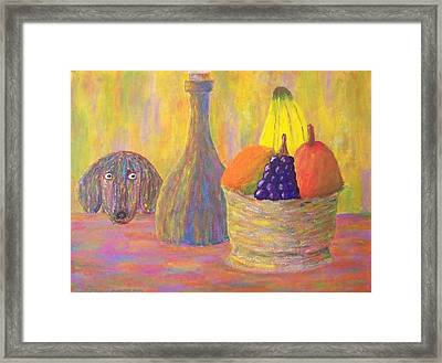 Not So Still Life Number One Framed Print by Ricky Gagnon