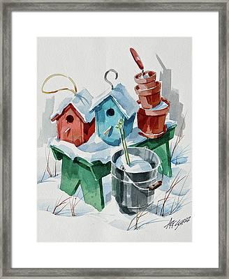 Not Till Spring Framed Print by Art Scholz