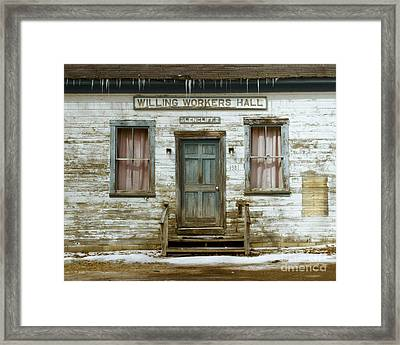 Not Willing To Paint Framed Print by Alice Mainville