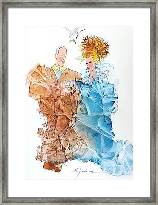 Not Yet Empty Nesters Framed Print by Marilyn Jacobson