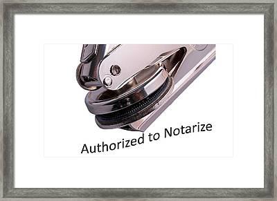 Notary Public Slogan Framed Print