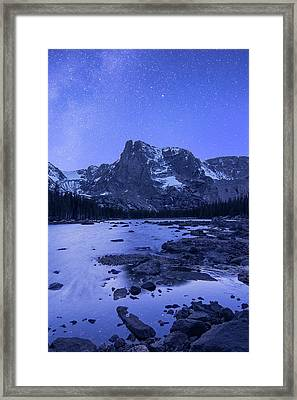 Framed Print featuring the photograph Notchtop Night Vertical by Aaron Spong