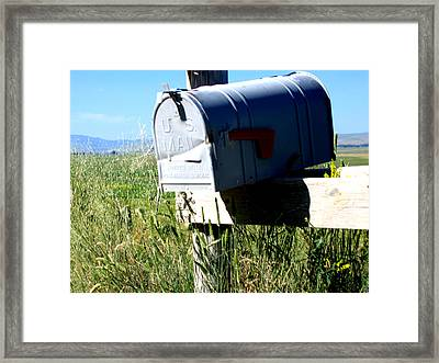 Note For You Framed Print by Diane Wallace
