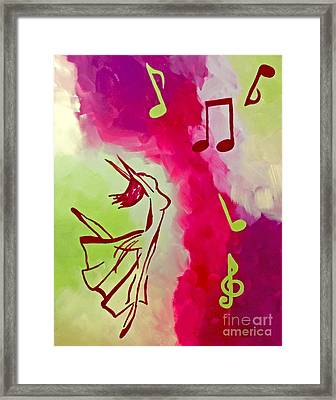 Notes Of Delight Framed Print by Jilian Cramb - AMothersFineArt