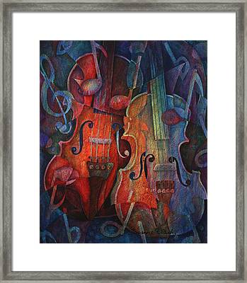 Noteworthy - A Viola Duo Framed Print by Susanne Clark