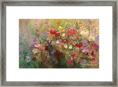 Nothing But Flowers Framed Print by Frances Marino