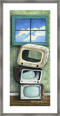 Nothing On Tv Framed Print by James Stanley