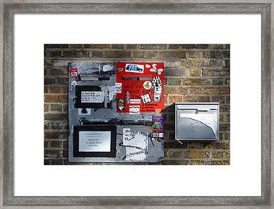 Notice Board For Scrap Framed Print by Jez C Self