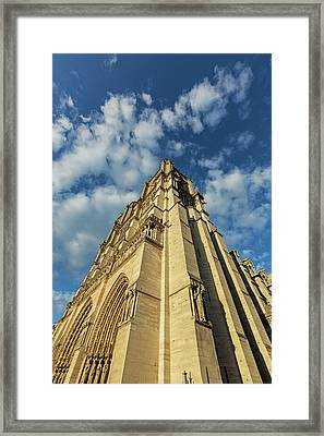 Framed Print featuring the photograph Notre Dame Angles In Color - Paris, France by Melanie Alexandra Price