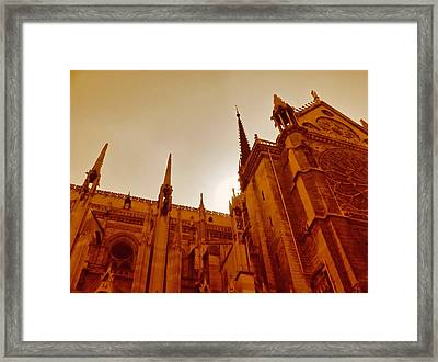 Notre Dame At Sunset Framed Print by Tony Grider