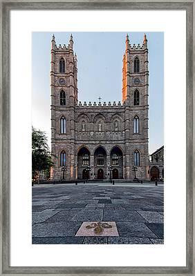 Notre-dame Basilica Fleur-de-lis  Framed Print by James Wheeler