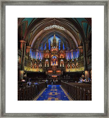 Notre Dame Basilica Montreal City Framed Print by Pierre Leclerc Photography