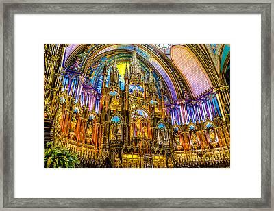Notre Dame Basilica - Montreal Framed Print