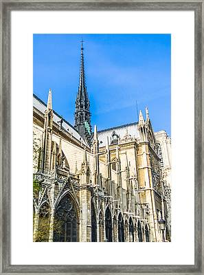 Notre Dame Cathedral - Gothic Architecture Framed Print