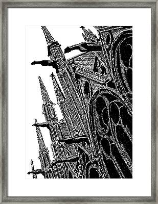 Notre Dame Cathedral, Paris, France. Framed Print by Brian Keating