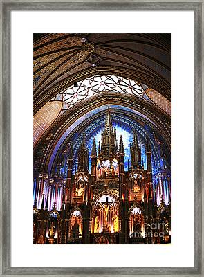 Notre Dame Ceiling Framed Print by John Rizzuto
