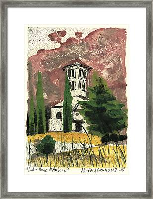 Framed Print featuring the painting Notre Dame D'aubune by Martin Stankewitz