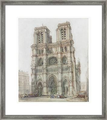 Notre Dame Framed Print by David Roberts