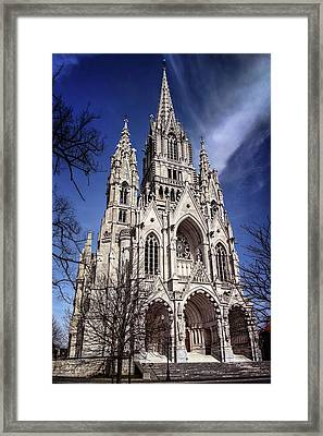 Notre Dame De Laeken In Brussels  Framed Print
