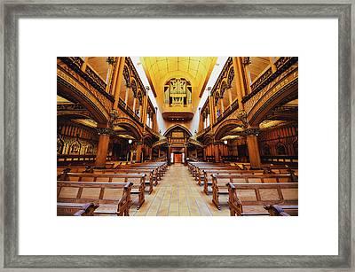 Notre Dame De Montreal Basilica Framed Print by Mountain Dreams
