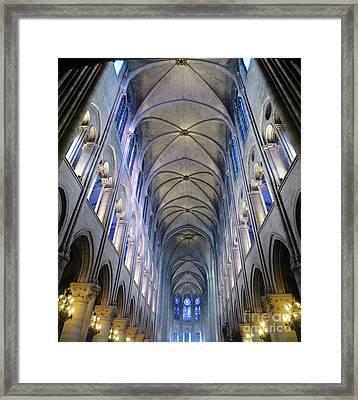 Notre Dame De Paris - A View From The Floor Framed Print