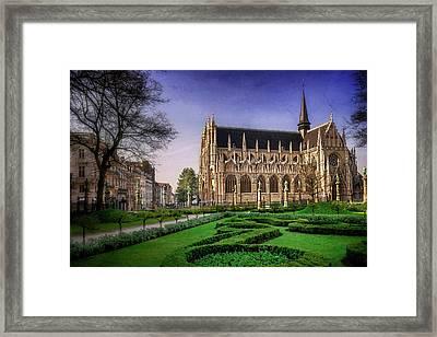 Notre Dame Du Sablon In Brussels  Framed Print