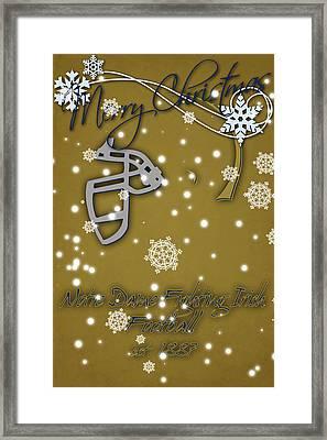 Notre Dame Fighting Irish Christmas Card 2 Framed Print by Joe Hamilton