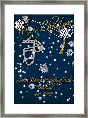 Notre Dame Fighting Irish Christmas Card Framed Print