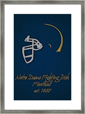 Notre Dame Fighting Irish Helmet Framed Print