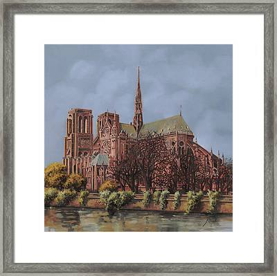 Notre-dame Framed Print by Guido Borelli