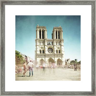 Framed Print featuring the photograph Notre Dame by Hannes Cmarits