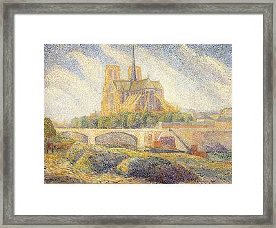 Notre Dame Framed Print by Hippolyte Petitjean