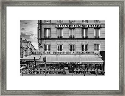 Notre Dame Hotel Framed Print