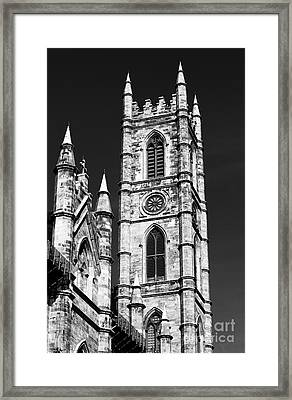 Notre Dame In Montreal Framed Print