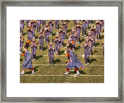 Notre Dame Marching Band Framed Print