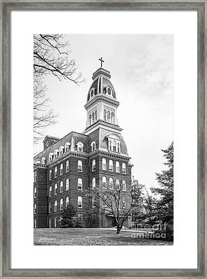 Notre Dame Of Maryland University Gibbons Hall Framed Print by University Icons
