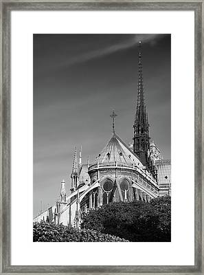 Notre Dame, Paris, France. Framed Print