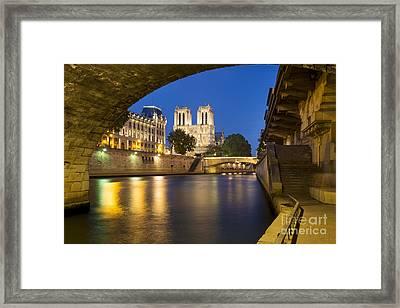 Notre Dame - Paris Night View II Framed Print by Brian Jannsen