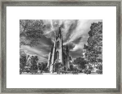 Notre Dame University 4 Black White Framed Print by David Haskett