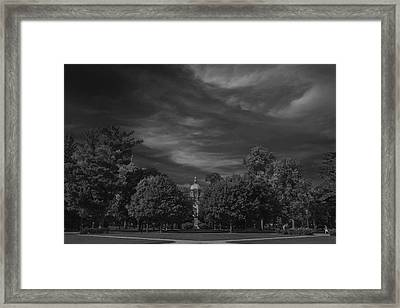 Framed Print featuring the photograph Notre Dame University 6a by David Haskett