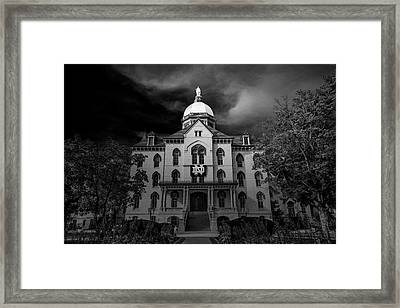 Notre Dame University Black White 3a Framed Print by David Haskett