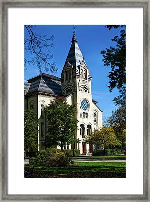 Notre Dame University Framed Print by Mountain Dreams