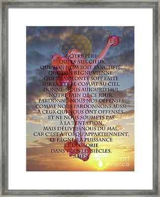 Inri M14, Notre Pere Framed Print