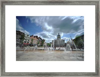 Nottingham Town Hall 2.0 Framed Print